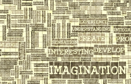 Imagination and Dare to Imagine as Concept Stock Photo - 19599629
