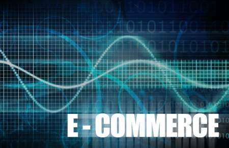facilitated: E-Commerce or Electronic Commerce as a Concept Stock Photo