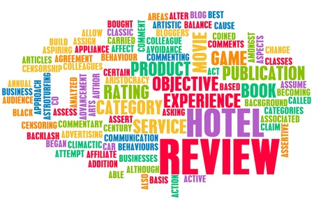 Hotel Review Word Cloud as a Concept Stockfoto