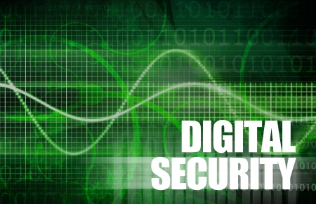Digital Security Industry through Online Data Art Stock Photo - 19839371