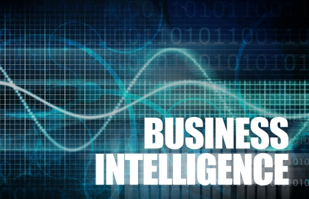 intelligence: Business Intelligence Analysis to make a Decision Stock Photo