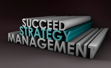 Successful Management Strategy as a 3d Art photo