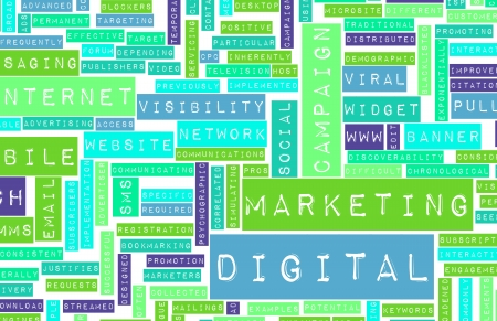 Digital Marketing on the Internet and Other Media Stock Photo - 20006172