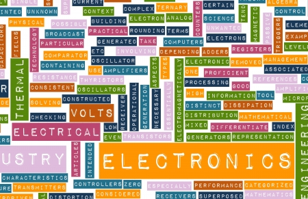 technical term: Electronics Industry and Other Business Terms Art Stock Photo
