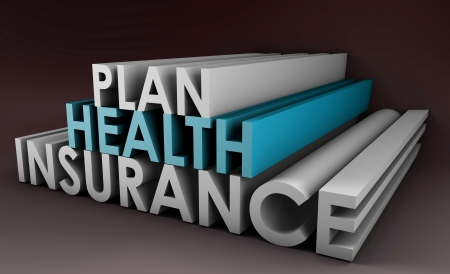 3d art: Pol�tica Plan de Seguro de Salud en arte 3D Foto de archivo