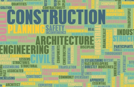 Construction Industry and other Business Word Art photo