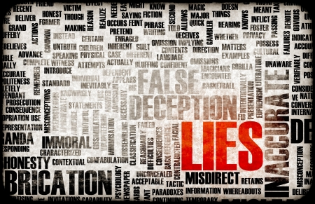 lie: Lies and the Spreading of Fake Information Stock Photo