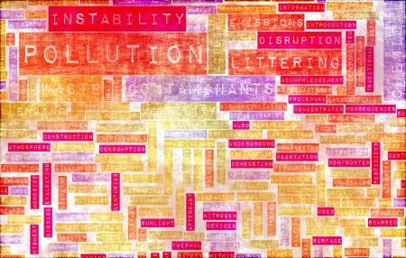 global problem: La contaminaci�n y los desperdicios problema mundial como arte