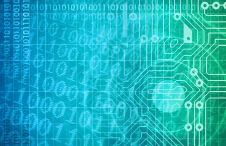 cyber warfare: Security Network and Monitoring Data on the Web Stock Photo