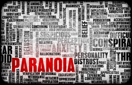 suspens: L'anxi�t� mentale Paranoid Paranoid et que Concept Banque d'images