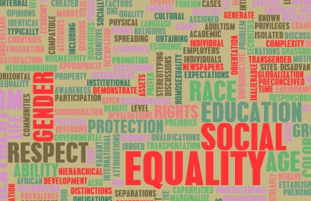 equal opportunity: Social Equality Respect for Every Race and Gender Stock Photo