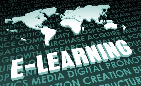 E-Learning Industry Global Standard on 3D Map Stock Photo - 20138134