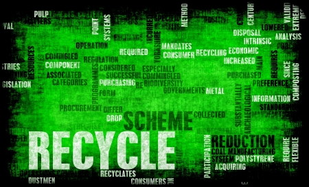 Recycle Concept with Important Keywords on Art Stock Photo - 20138334