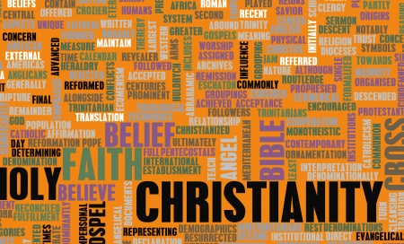 belief system: Christianity Concept Stock Photo