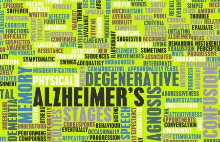 Alzheimer of dementie als een medische aandoening Stockfoto