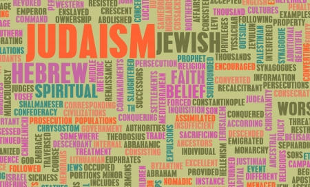 belief system: Judaism or Jewish Religion as a Concept Stock Photo