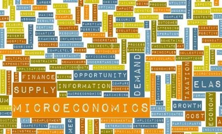 elasticidad: Microeconomía o micro economía como un concepto Foto de archivo