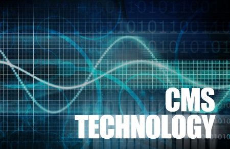 cms: CMS Technology or Content Management System Tech Stock Photo