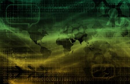decrypt: Digital Identity Management as New Technology Art Stock Photo