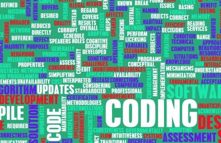 Coding or Programming in Software Development 写真素材