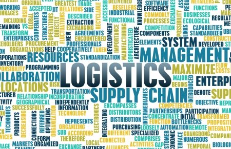 Logistics in SCM and DCM Business Concept photo
