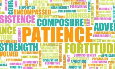 virtue: Patience is a Virtue to Success and Glory Stock Photo