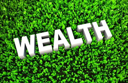 yields: Growing Your Wealth and Wise Growth of Money Stock Photo