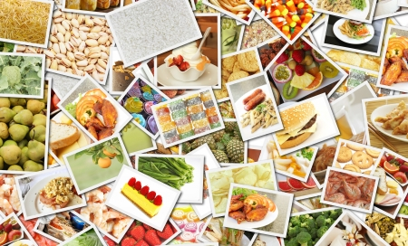 themed: Food Collage for Catering Business Concept Art