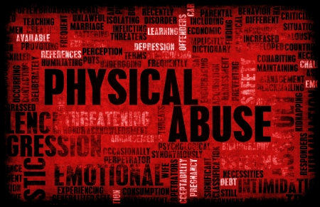 mistreatment: Physical Abuse and Violence as a Abstract Stock Photo
