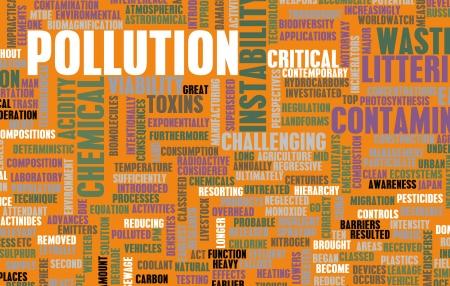 global problem: La contaminaci? los desperdicios problema mundial como arte Foto de archivo