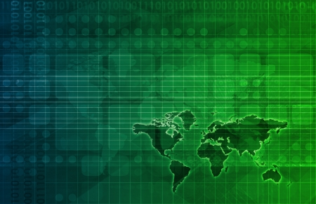 lte: Telecommunications Network all over the World Art Stock Photo