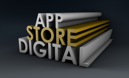 Application Store or Apps Marketplace as Concept photo