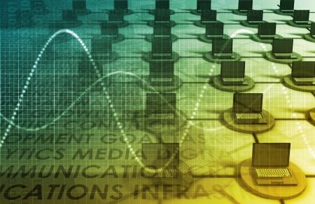 A Technology Industry Network As a Wallpaper Stok Fotoğraf