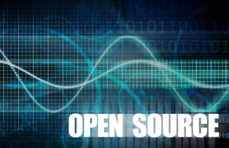 cutting costs: Open Source Software Systems and Free Logic Stock Photo