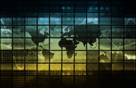 global market: Futuristic Technology as a Concept Background Art Stock Photo