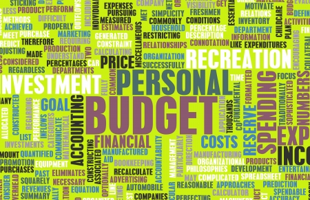 home expenses: Personal Budget and Spending Finances as Concept Stock Photo