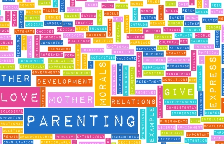 terminology: Good Parenting and Practices of Being in a Family Stock Photo