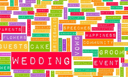 wedding guest: Wedding Day With Cake and Guests Concept