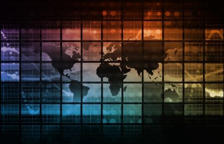 Technologie Hintergrund als Digital-Kunst Standard-Bild - 20545607