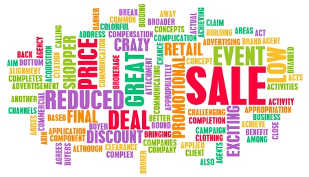 discounted: Sale in a Store or Shopping Mall Concept Stock Photo