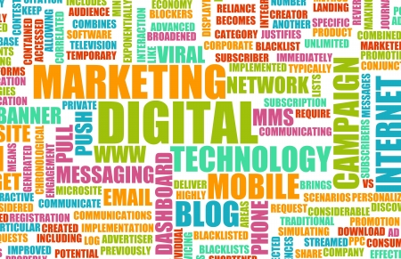 Digital Marketing on the Internet and Other Media Stock Photo - 20545566