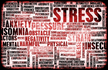 cope: Stress Management and Being Over Stressed as Art Stock Photo