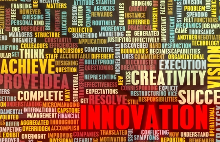 think out of the box: Innovation and Inspiration as a Art Concept Stock Photo