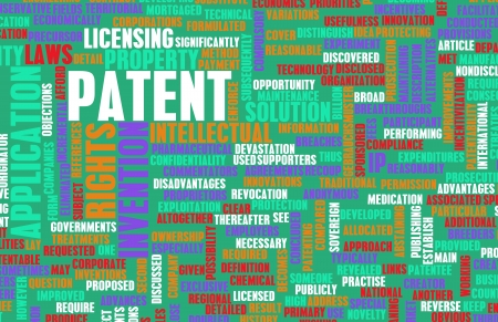 intellectual property: Patent as an Intellectual Property Concept Stock Photo
