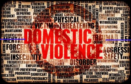 Häusliche Gewalt und Missbrauch als Zusammenfassung Standard-Bild - 20612432