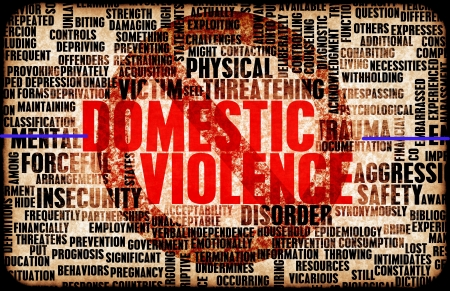 Häusliche Gewalt und Missbrauch als Zusammenfassung Lizenzfreie Bilder