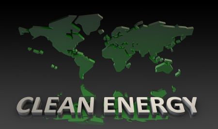 clean energy: Clean Energy for the World in 3d
