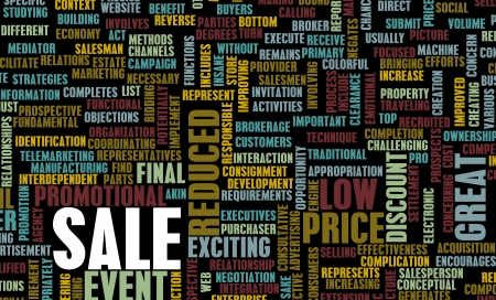 event marketing: Sale in a Store or Shopping Mall Concept Stock Photo