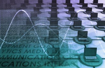 Data Network auf einer Corporate-System als Kunst
