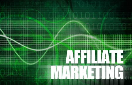 affiliate: Affiliate Marketing to Make Money Online Concept Stock Photo